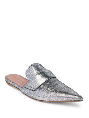 Silver Leather Rising Sabot mules - Metallic Marni a1tbQ2k4