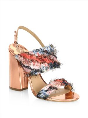 c75508bfa9c0 ... Outlet 100% Guaranteed Sale Salvatore Ferragamo Fringe Slingback Sandals