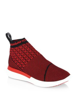 SALVATORE FERRAGAMO Caprera Running Sneakers, Lipstick Red