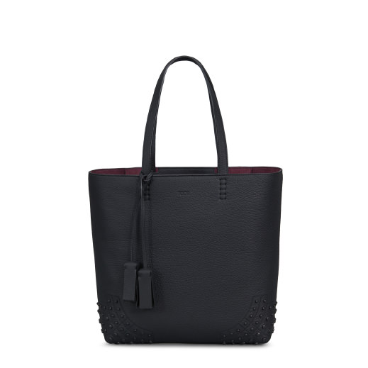 Wave Tote Bag Medium in Black