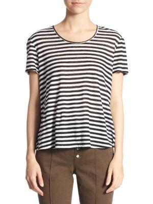 Everly Striped Tee, Black White