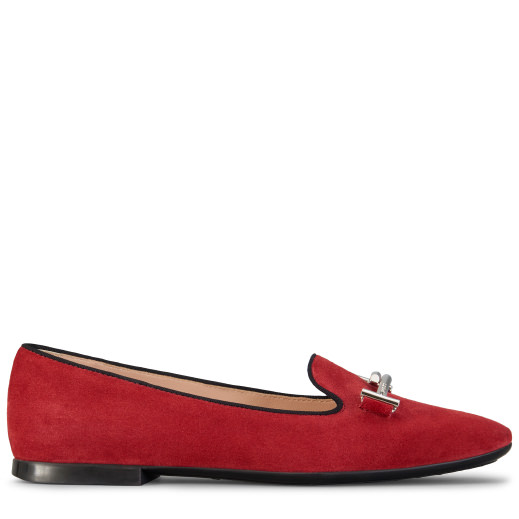 Double T Slip-On Loafers, Red