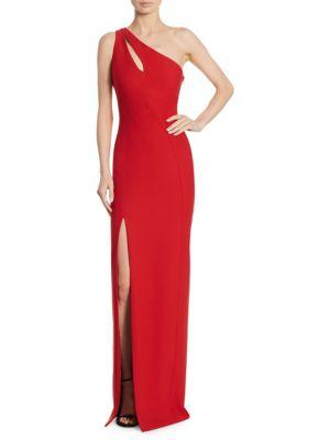 Cinq À Sept Woman Gianna One-shoulder Cutout Ponte Gown Midnight Blue Size 4 Cinq à Sept Sale Big Discount J9nUle
