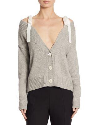 Cinq À Sept Woman Noa Ruffle-trimmed Wool-blend Cardigan Black Size L Cinq à Sept Cheap Official Site Good Selling Sale Online nlAXQPG