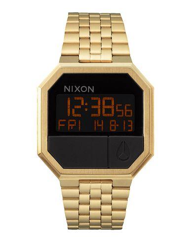 NIXON Men'S Re-Run Digital Stainless Steel Bracelet Watch 39Mm A158 in Gold