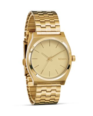 NIXON Time Teller Stainless Steel Bracelet Watch 37Mm A045 in Gold/Gold
