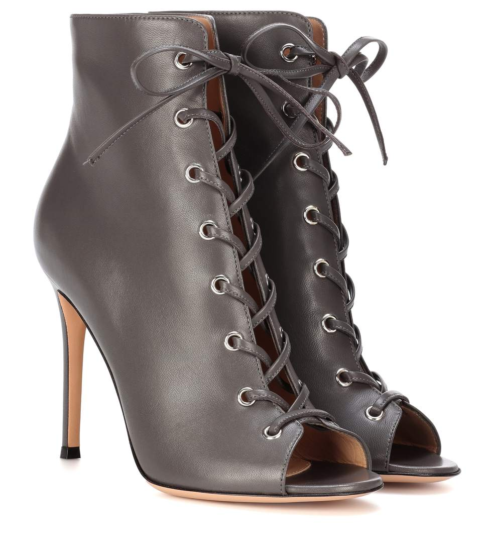 Gianvito Rossi Peep-Toe Lace-Up Ankle Boots Discount Cost Cheap Sale Manchester New For Sale Many Kinds Of Discount Good Selling 1z1KwqQ