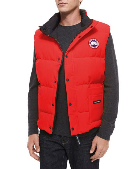 canada goose red gilet