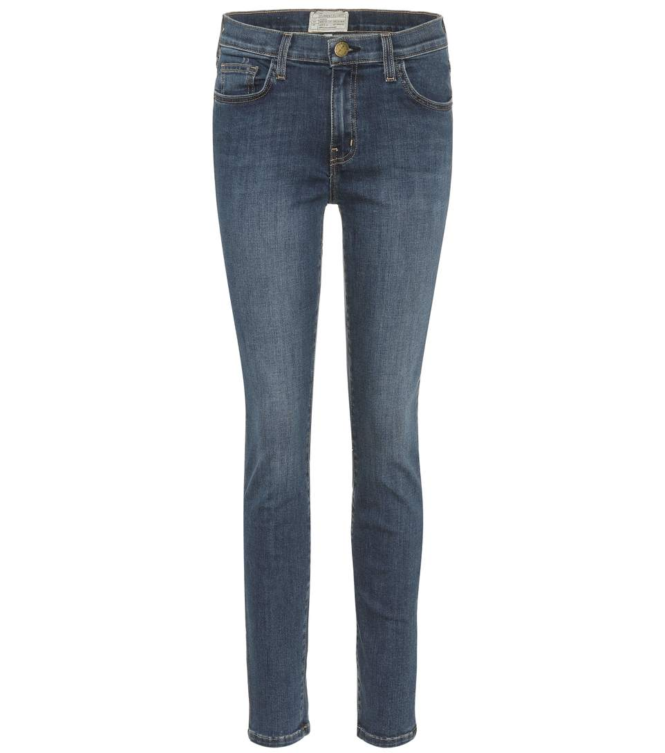 The Highwaist Ankle Skinny Jeans in Blue