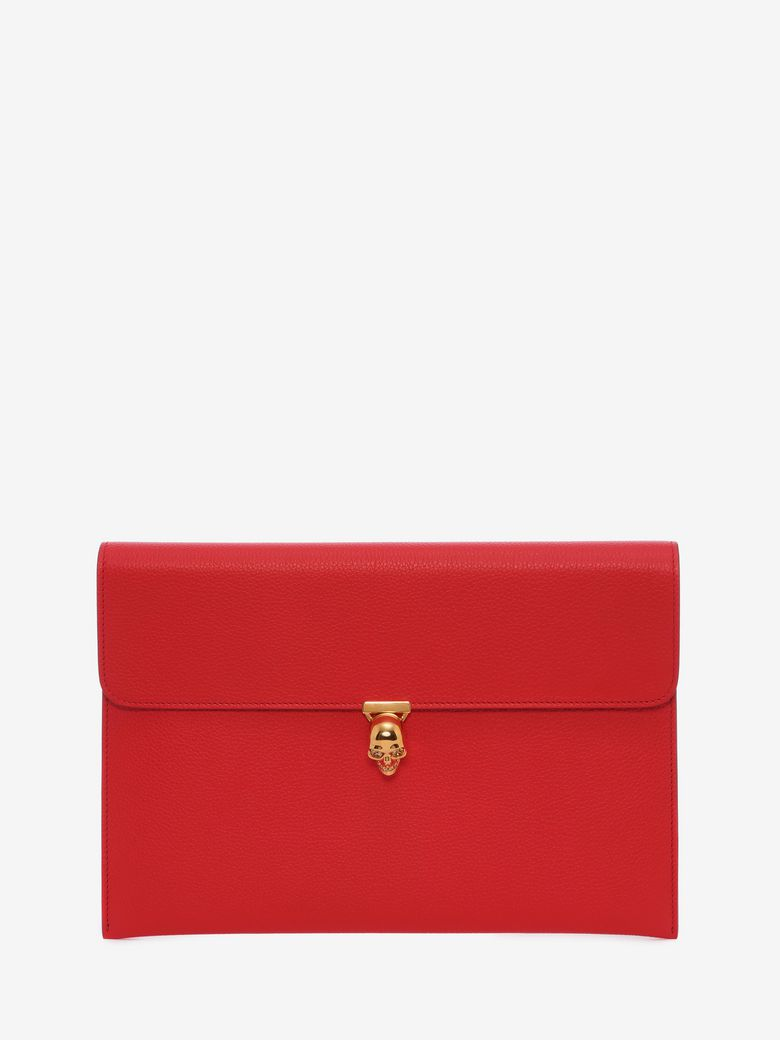 Red Small Skull Envelope Clutch