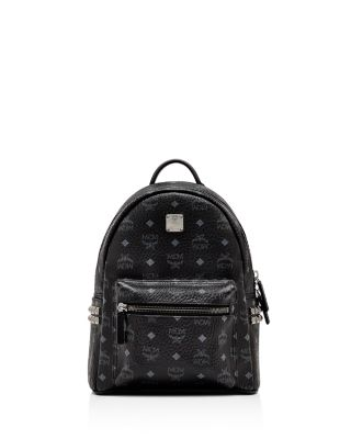 MCM Small Stark Side Stud Backpack - Black in Bk