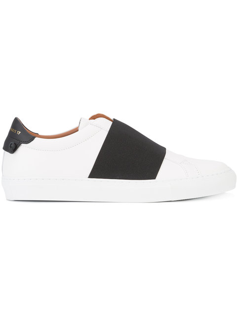 Urban Knots Elastic Slip-On Sneaker, White/Black in 116 White/Black