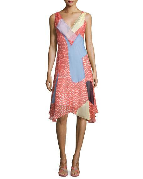 Discount Amazon Discount New Arrival Diane von Furstenberg Sleeveless Silk Dress Amazon Cheap Sale Footlocker Ek4Oakzu