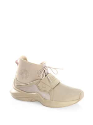 Fenty By Rihanna Hi-Top Trainer Sneakers in Sesame