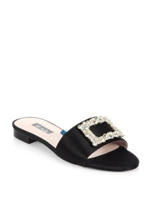 SJP BY SARAH JESSICA PARKER 10Mm Grace Embellished Satin Sandals in Black
