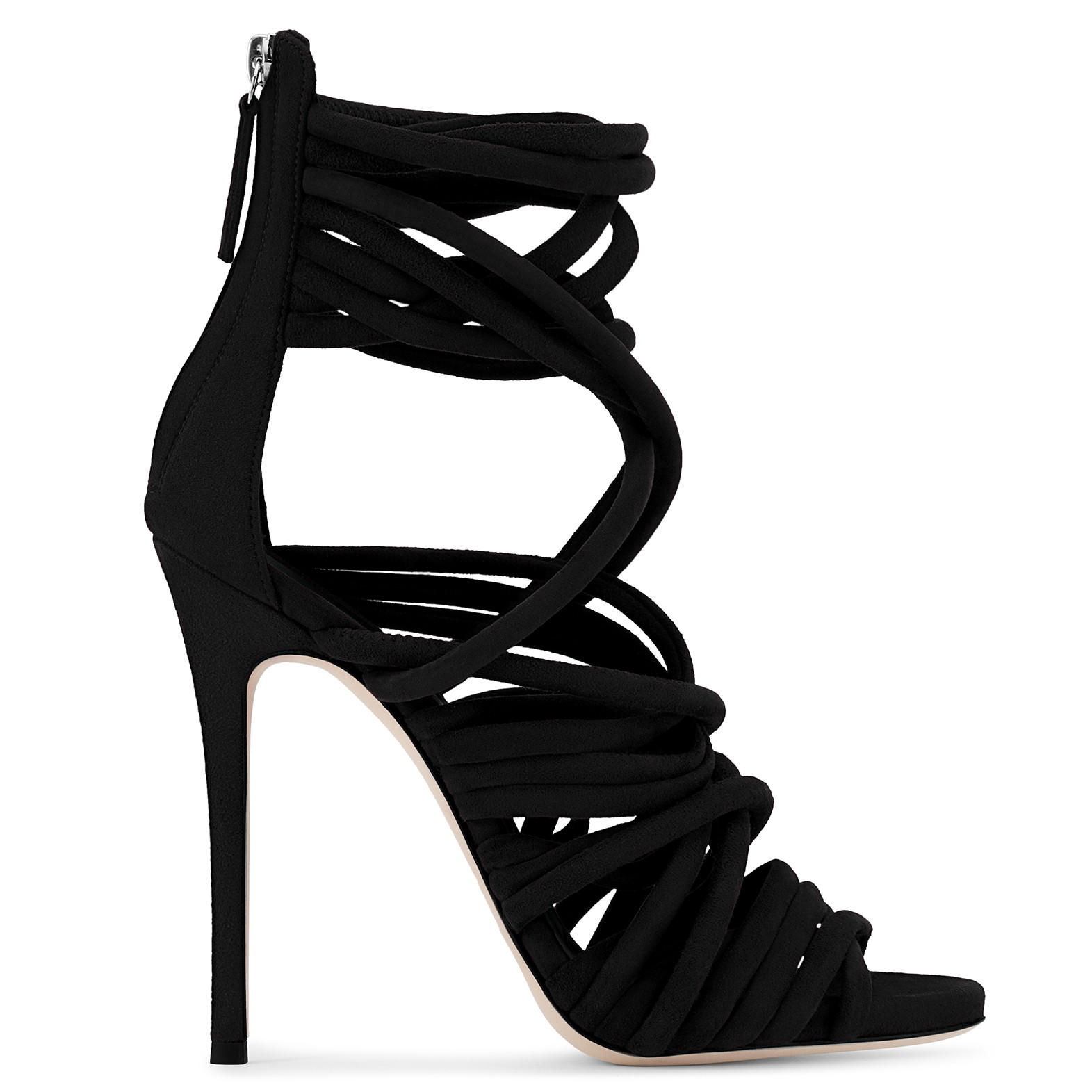 "GIUSEPPE ZANOTTI ""Runway"" Multi-Strap Sandals in Nero"