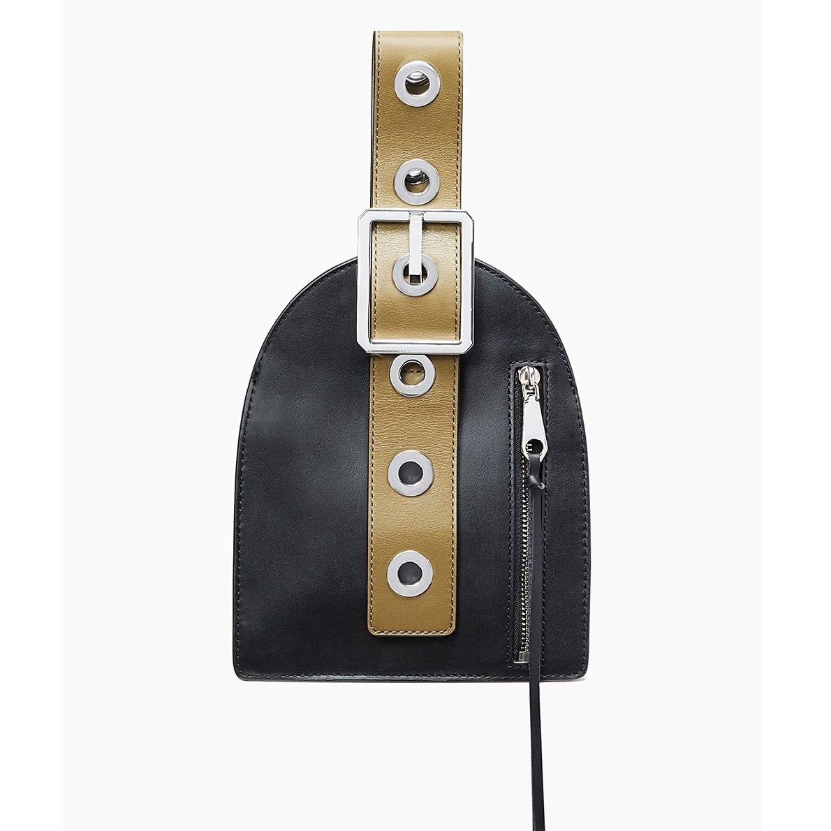 REBECCA MINKOFF Hook Up Museum Wristlet in Black/ Fango