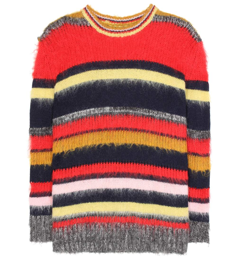 Online Store Striped Knitted Sweater - Red AlexaChung Outlet Original MloydhEyw