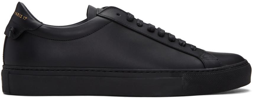 Men'S Urban Street Tonal Leather Sneakers, 001 Black
