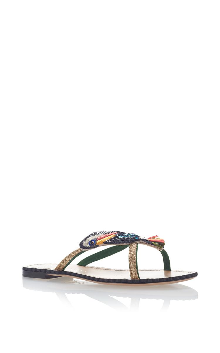 CHARLOTTE OLYMPIA Toucano Flat Sandal in Multi