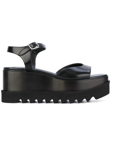 Elyse Platform Sandals in Black