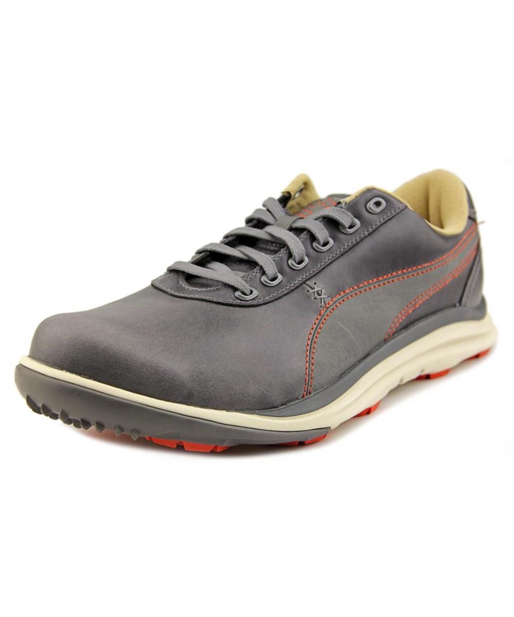 5eb7aa5fdb7116 Puma Biodrive Leather Round Toe Leather Golf Shoe  In Grey