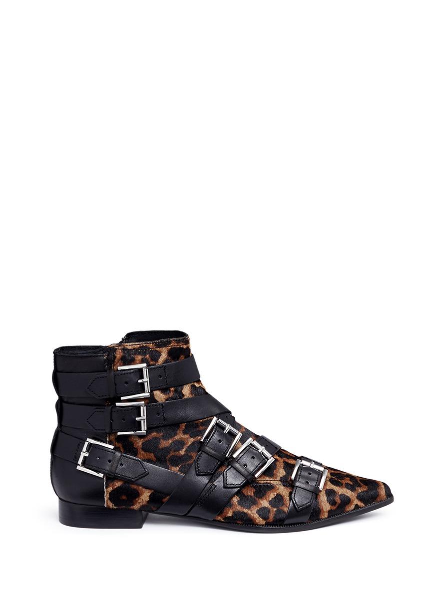 Blast Leopard-Print Calf Hair Buckle Boot 1VZIyRlSa9