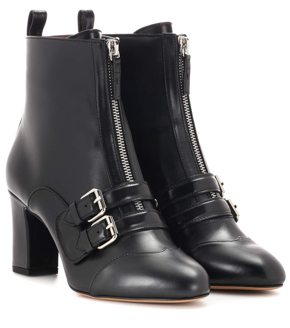 TABITHA SIMMONS Axel Leather Ankle Boots in Black