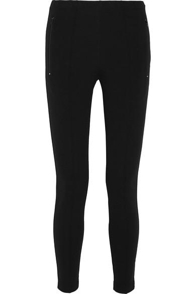 Jogger Fuseau Stretch-Ponte Stirrup Leggings in Black