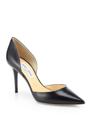 jimmy choo addison 80 leather d orsay pumps in black modesens rh modesens com