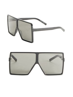 New Wave 182 Matte Black Metal Betty Sunglasses in Black/Grey