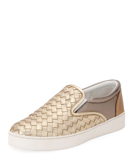 Multicolour Intrecciato Nappa Laminata Dodger Sneaker, Multi Patch
