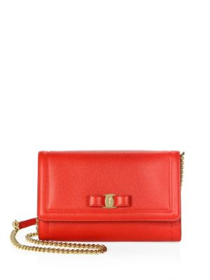 Miss Vara Mini Crossbody Clutch Bag, Red, Lipstick