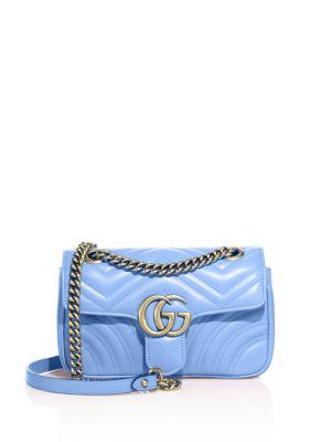 472a11d32319 GUCCI Mini Gg Marmont 2.0 Matelasse Leather Shoulder Bag - Blue ...