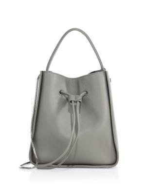 3.1 PHILLIP LIM Soleil Mini Leather Drawstring Bucket Bag in Cement