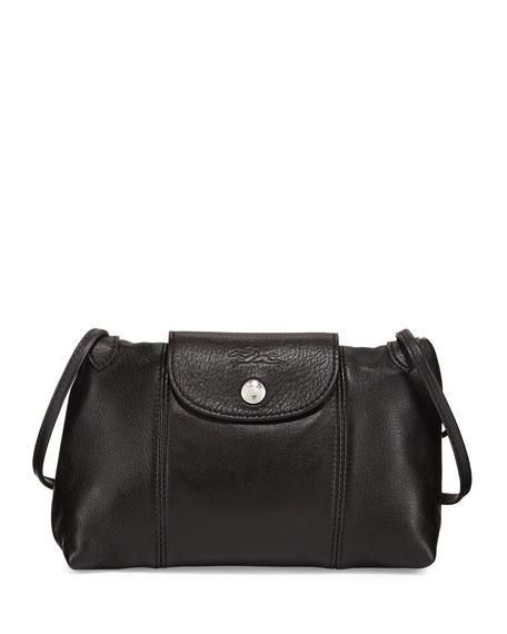 fb46acfbdd2 Longchamp Le Pliage Cuir Small Crossbody Bag, Black   ModeSens