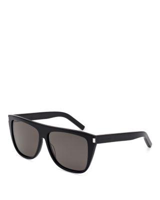 'Flattop' 59Mm Sunglasses - Black/ Black/ Smoke, Black Smoke