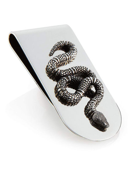 GUCCI Money Clip With Snake In Silver