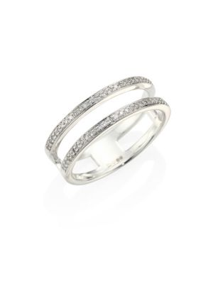 Stellar Skinny Diamond & Sterling Silver Double Band Ring