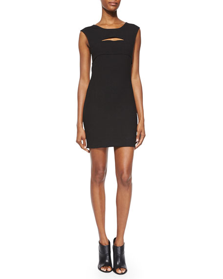IRO Calley Sleeveless Body-Conscious Mini Dress, Black