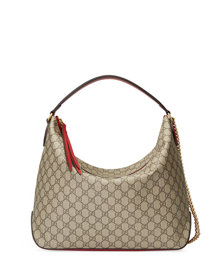 Linea A Large Gg Supreme Canvas Hobo Bag in Brown