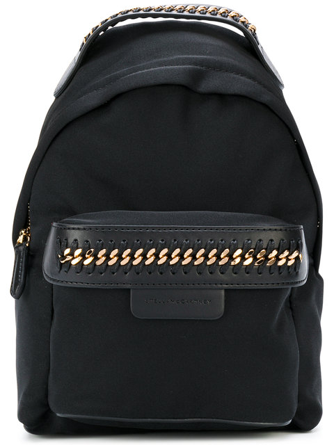 Black Mini Nylon Falabella Go Backpack