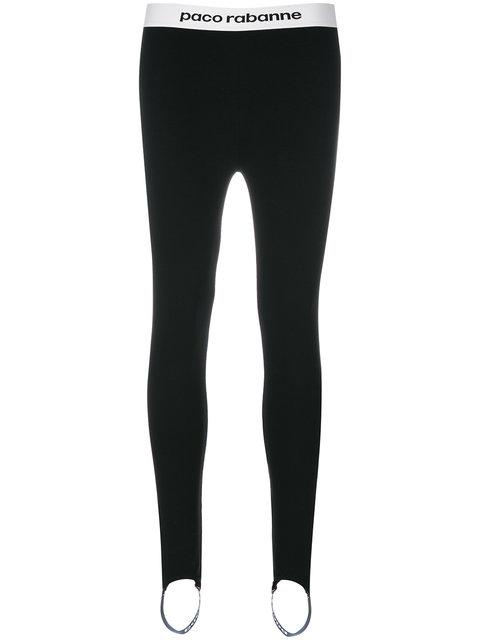 8eb697b1aa Paco Rabanne Elasticated Waistband Leggings In Black