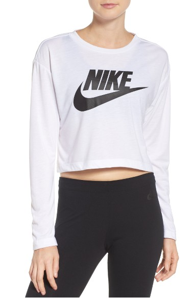 5b1452f59 womens nike sportswear essential crop long sleeve top