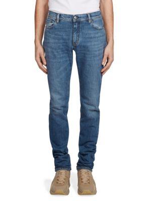 Blå Konst North Mid-Rise Slim-Leg Jeans in Mid Blue