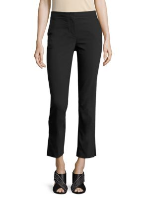 Woman Cropped High-Rise Flared Jeans Black