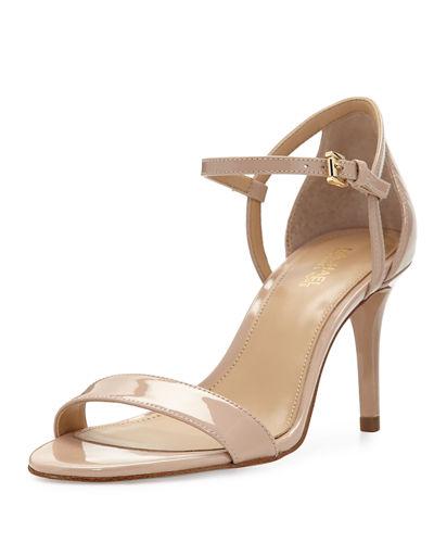 Simone Ankle Strap High-Heel Sandals, Light Blush