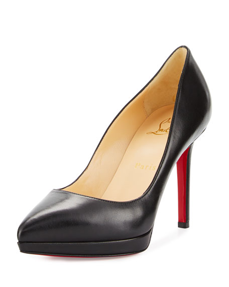 CHRISTIAN LOUBOUTIN 120MM PIGALLE PLATO PATENT LEATHER PUMPS, BLACK
