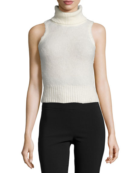 5e656e46a4bf RACHEL ZOE Elodie Sleeveless Turtleneck Sweater