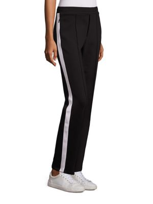 MONCLER Piped Seam Track Pants in Black
